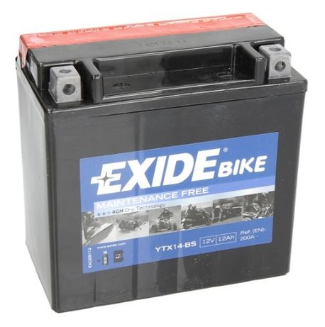 Akumulator EXIDE YTX12BS AGM KAWASAKI ER500 rok 97-06 ER-6 rok 05-11