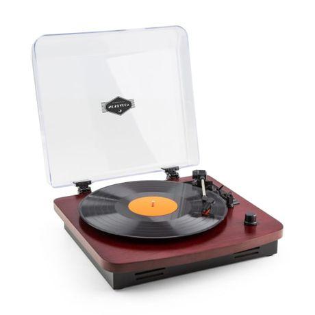 Auna TT370 Gramofon retro drewno