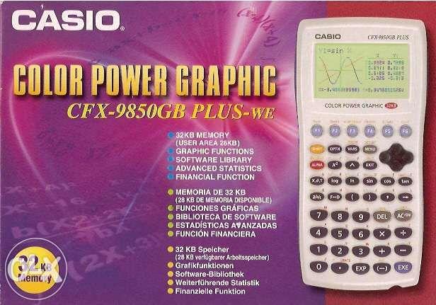 [NOVO] Calculadora gráfica casio cfx-9850gb plus-we 32kb