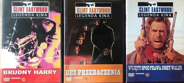 DVD filmy z kolekcji Clinta Eastwooda: BRUDNY HARRY, BEZ PRZEBACZENIA,