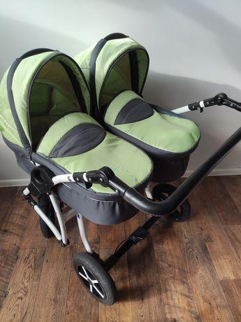 Wózek bliźniaczy Dorjan Danny Sport 3w1 dla bliźniaków bliźniąt podwój
