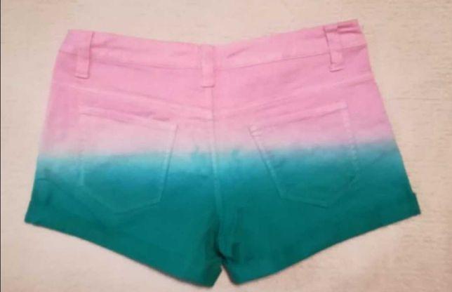 Крутые джинсовые шорты градиент