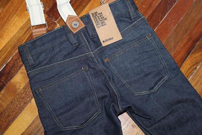 детские джинсы с подтяжками Denim 3-4 года