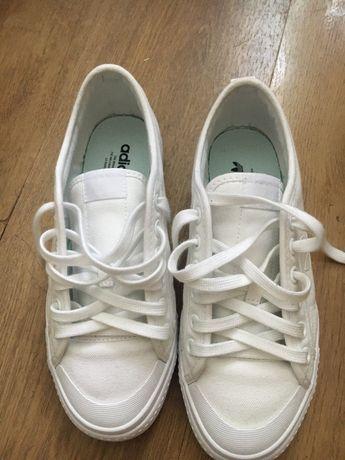 Trampki tenisówki białe adidas nizza