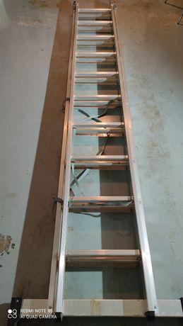 Vendo escada dupla de Aluminio (3+3m)