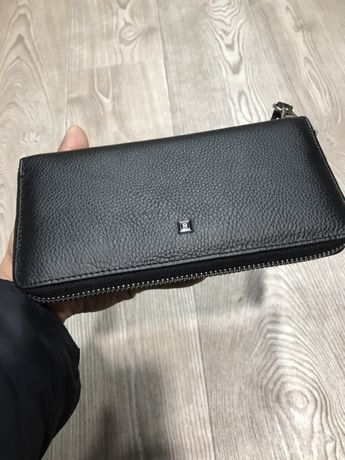Кожаный мужской кошелек и клатч на один молнии H и F Leather турция.