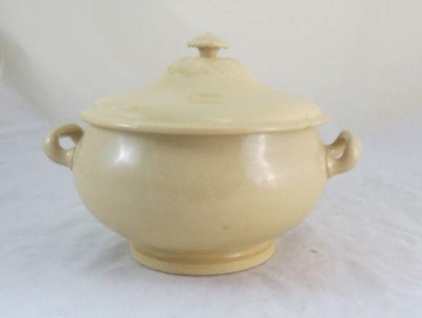 Terrina Boch Freres Keramiks Amarela nº1; Altura 18cm; Diâmetro 17cm;