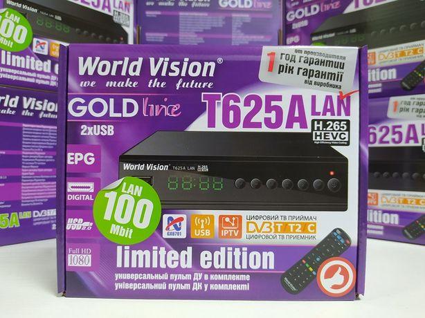 Приставка Т2 тюнер DVB-T/T2/C World Vision T625A LAN YouTube IPTV MeGo