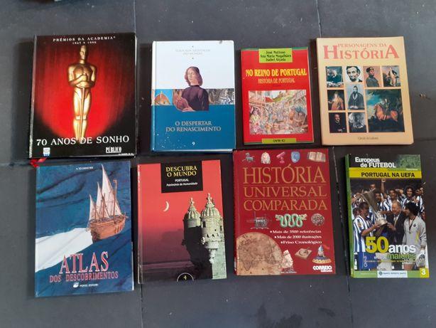 Livros História portugal, futebol e outros: conj 8
