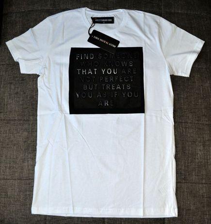 Nowy modny t-shirt (XL) - BREEZY TO BLACK VIBES