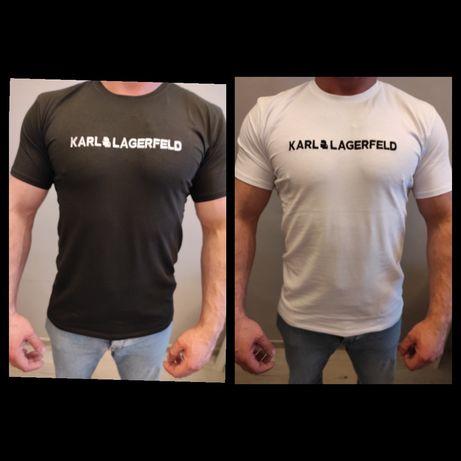 Koszulki Męskie Karl Lagerfeld Wyszywane Nowość M-XXL