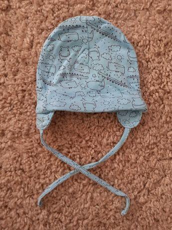 czapeczka bawełniana dla niemowlaka chłopca. Rozmiar 40-42 cm