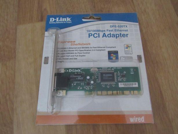 PCI Adapter D-Link DFE-520TX (мережевий адаптер, сетевая карта)