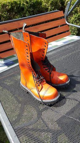 Buty wysokie skórzane