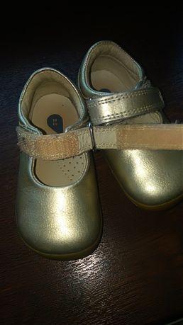 Złote buciki skórzane Step Up