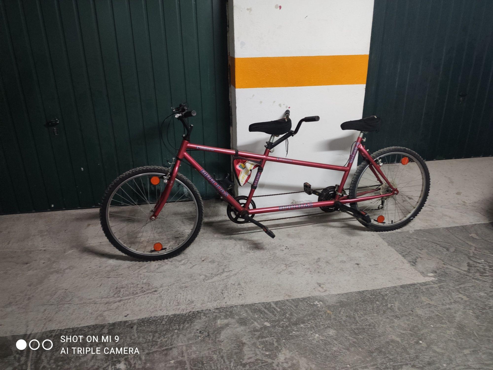 Bicicleta de dois lugares bicicleta