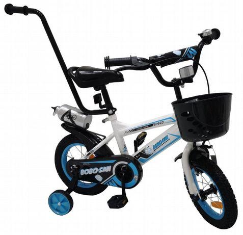 Rowerek rower BMX dziecięcy 12 cali kółka boczne prowadnik pchacz