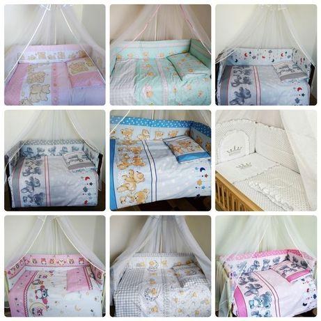 Детское постельное белье и бортики (защита) в кроватку.Польский хлопок