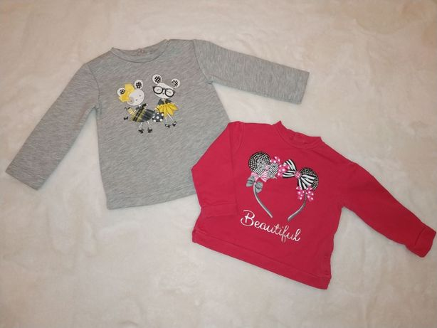 2 bluzy Mayoral dla dziewczynki rozmiar 86