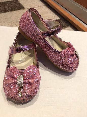 Туфли - балетки розовые на девочку 24 размер