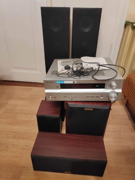 Zestaw kolumny Koda 5.1 i amplituner Pioneer 515 kino domowe