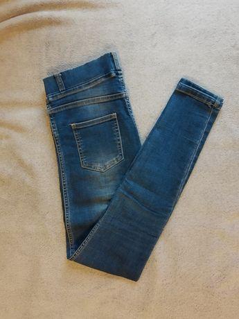 Jeansowe, cieniowane rurki