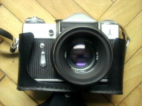 Aparat fotograficzny ZENITH E, wersja OLIMPIJSKA, dla konesera