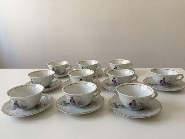 Serviço de chá Vista Alegre edição otaru, motivos japoneses