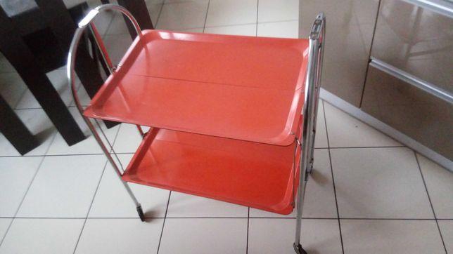 Wózek / barek na kółkach obrotowych składany