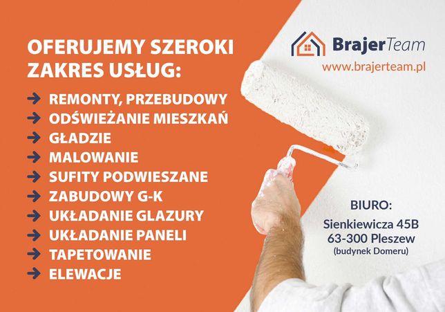 Usługi remontowo-wykończeniowe - remonty, przebudowy, elewacje