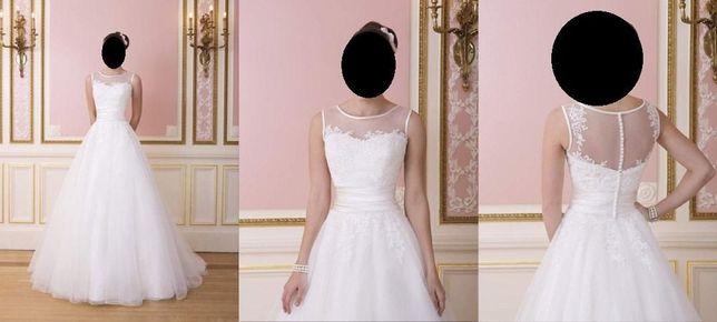 Suknia ślubna Sweetheart 6007 biała rozmiar 34/36 + welon