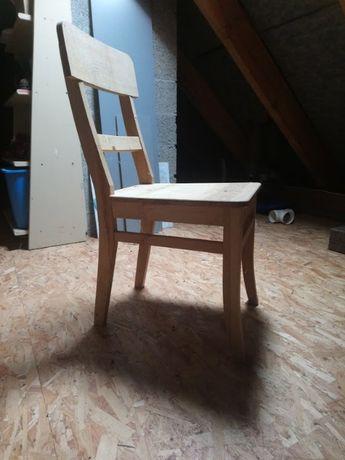 Krzesło dębowe surowe
