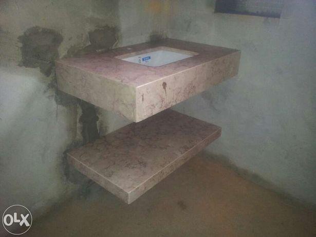 bancada de wc em pedra