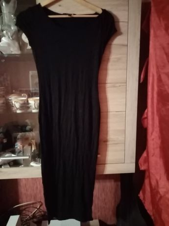Sukienka maxi NEW LOOK rozm. 12 czarna wyszczuplająca