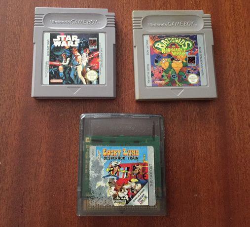 Jogos Game Boy- Star Wars, Battletoads e Lucky Luke