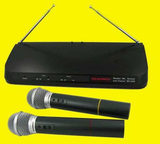 Profesjonalne dwa mikrofony bezprzewodowe Sekaku WR 202R/VXM-286TS