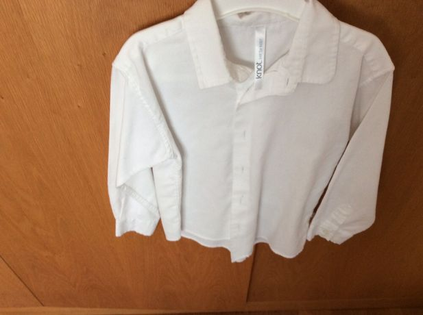 Camisa Branca (4 anos) Knot (nova)