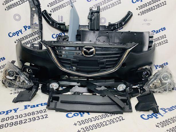 Mazda 3, бампер, решетка mazda 3, фары mazda 3 2014+