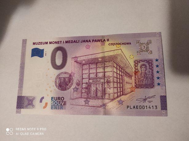 Banknot kolekcjonerski 0 euro Częstochowa - UNC nr 1413