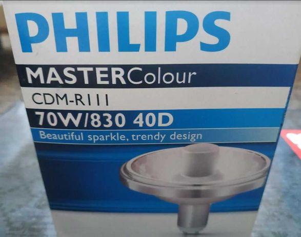 Philips halogen 70W MasterColour CDM-R111 ciepła biała