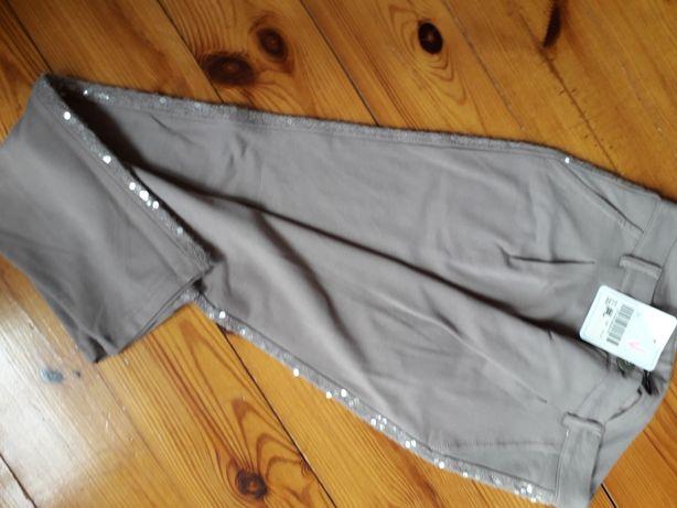 Spodnie nowe markowe lampasy cekiny rozmiar xs