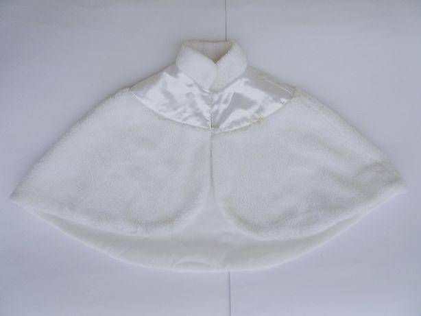 Biała peleryna komunijna
