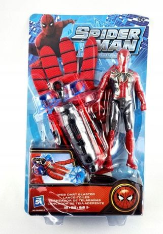 spiderman figurka rękawica wyrzutnia strzela strzałkami
