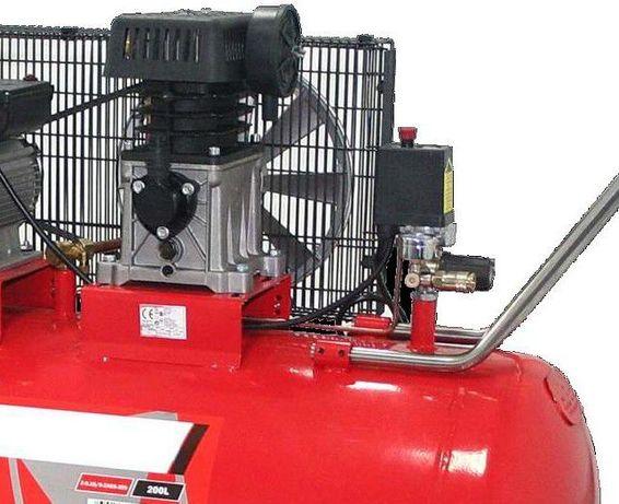 Compressor de ar de correias c/ rodas 200 lts 290 lts/m – 3 CV barato