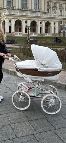 Коляска Bebecar 2в1 роскошная белая коляска сумка в подарок
