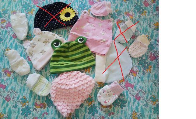 шапочки на новорожденных чепчики панамки