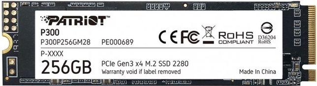 Patriot P300 256GB M.2 2280 NVMe PCIe 3.0 x4 3D NAND TLC