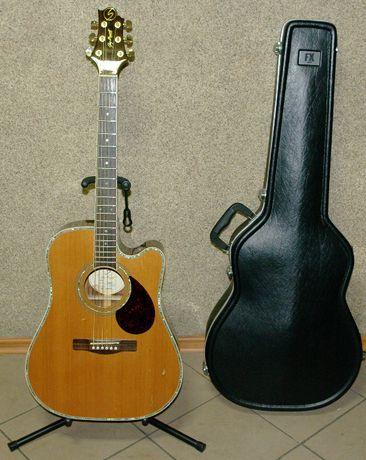 Gitara elektroakustyczna GREG BENNETT DESIGN + futerał + stojak