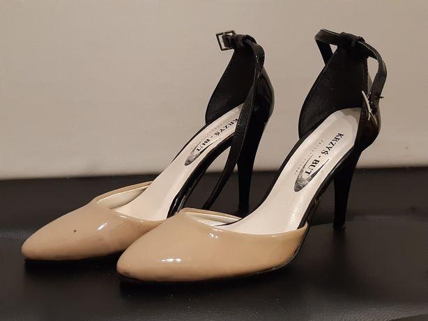 Skórzane buty na obcasie 37 Polska firma