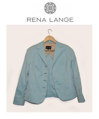 Rena lange womens blazer базовый повседневный пиджак синего бежевого